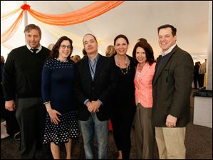 From left, Scott Ciolek, Rachel Steele, Allan Block, Susan Allan Block, Eileen Sullivan, and Chad Baker.