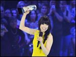 Carly Rae Jepsen receives the Juno for Album of the Year  on Sunday.
