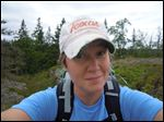 Christine O'Neil, Toledo native, St. Ursula grad, faculty member at Finlandia University in U.P.  on an expedition on Isle Royale.
