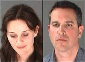 Photos of Reese Witherspoon, left, her husband James Toth provided by the City of Atlanta Department of Corrections.