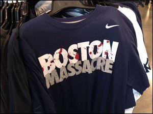 "Nike has pulled from the market T-shirts emblazoned with the words 'Boston Massacre' in the aftermath of last week's bombing. The ""Boston Massacre"" phrase has been used to describe a pivotal late-season sweep by the Yankees of the rival Boston Red Sox in 1978. That season culminated in a World Series championship for the Yankees."