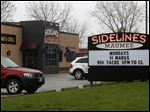 Sidelines is located at 1430 Holland Road in Maumee.