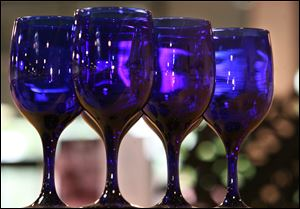 Cobalt Blue stemware made by Libbey Glass.