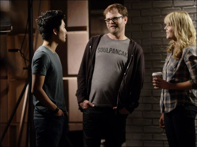 Ryan Higa, Rainn Wilson and Grace Helbig shoot a video for YouTube''s planned Comedy Week. From May 19-25, 2013, YouTube will host a themed week of comedy programming, featuring live-streams, videos and stand-up routines from comedy stars like Sarah Silverman and Jimmy Kimmel, as well as the less famous comedians of YouTube.