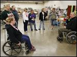 Dan Wilkins, Public Relations director of the Ability Center, speaks during an in-service training at Riverview Industries in Oak Harbor, Ohio. The Ability Center is hosting a day-long workshop May 1 for faith leaders.