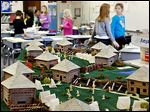 Second-grade students at Fort Meigs Elementary in Perrysburg created models of Fort Meigs for display in the fort's museum.