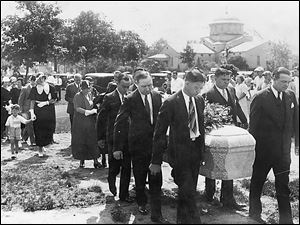 Jack Kennedy, a Toledo bootlegger, was laid to rest in 1932 after being gunned down in the city.