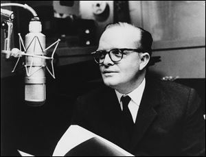 This 1966 file photo shows author Truman Capote in a studio recording the narration for his film adaptation of his short story,