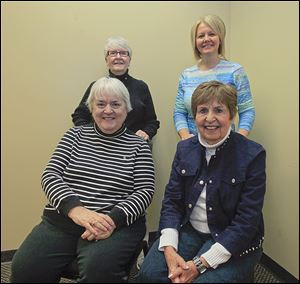 Citizens 4 the Whitman Center includes, back row from left, Alice Dewey and Sharon Hutchinson, both of Temperance; and front row, Bonnie Welniak, Lambertville, and Judith Hamburg, Temperance.