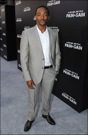 Actor Anthony Mackie arrive at the LA Premiere of