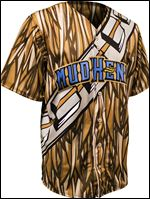 "Jersey to be worn by Toledo Mud Hens this weekend, to look like a ""Chewbacca"" from the Star Wars movies."