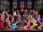 This theater image released by The O+M Company shows the cast during a performance of the musical 'Kinky Boots.'