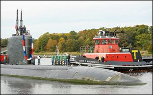 The Los Angeles-class attack submarine USS Toledo was commissioned in 1995 and is at its home port in Groton, Conn., for maintenance this spring and summer.