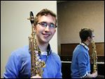 Jacob Kopcienski, who was fitted for his first hearing aids between ages 4 and 5, will graduate Friday as a music major at Bowling Green State University. Mr. Kopcienski, a 21-year-old saxophonist, said he's more focused on what he can't do as a musician as opposed to what he can't hear.