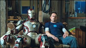 Robert Downey, Jr., as Tony Stark in a scene from the much-anticipated 'Iron Man 3.'