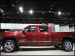 BIZ AutoShow16p The Chevy Silverado at the North American International Auto Show in Detroit, Tuesday, January 15, 2013.   The Blade/Andy Morrison for sunday tyrell story.