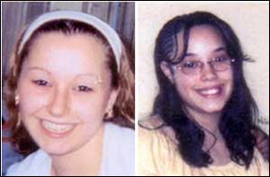 "Photos provided by the FBI show Amanda Berry, left, and Georgina ""Gina"" Dejesus. Cleveland Police Chief Michael McGrath said he thinks Berry, DeJesus and Michelle Knight were tied up at the house and held there since they were in their teens or early 20s."