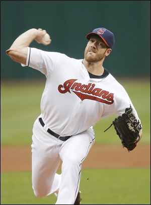 Indians starting pitcher Zach McAllister threw 7 2/3 innings of shutout ball to beat the Athletics.