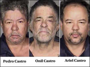 Images released by the Cleveland Police Department shows Pedro J. Castro, 54, Onil Castro, 50, and Ariel Castro, 52.