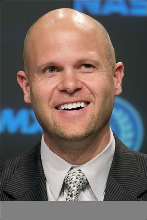 Former Florida quarterback Danny Wuerffel, speaks today at a news conference in New York.