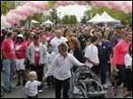 A look at last year's Making Strides against Breast Cancer 5K walk at Levis Commons.