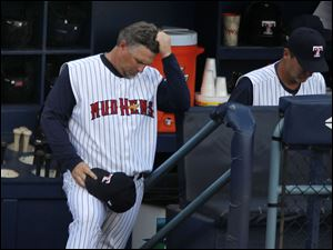 Hens manager Phil Nevin can hardly watch as his Toledo lead disappears against Rochester.