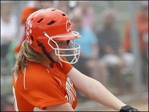 Southview's Lindsey Moyer connects with the ball in the top of the second inning.