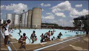 The Jamie Farr Pool is one of the few remaining city pools to be opened this year.