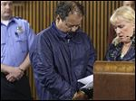 Ariel Castro appears in Cleveland Municipal Court with defense attorney Kathleen DeMetz. Castro was charged with four counts of kidnapping and three counts of rape against three women missing for about a decade.