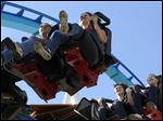 Fans ride the new GateKeeper at Cedar Point.