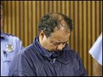 Ariel Castro appears in Cleveland Municipal court today. He was charged with four counts of kidnapping and three counts of rape.
