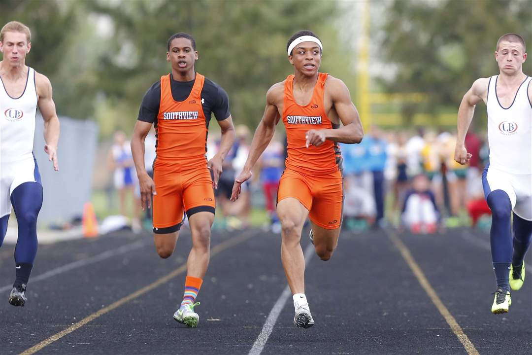 Clay-Invite-100-meter-dash