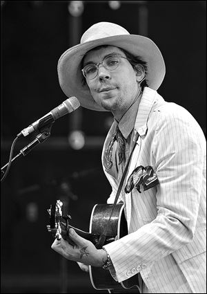 Musician Justin Townes Earle performs onstage during 2013 Stagecoach: California's Country Music Festival in April in Indio, California.