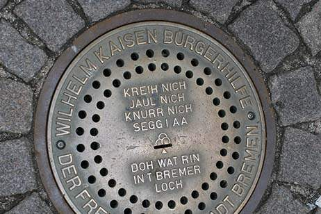 Germany-mag-page-Bremen-manhole-cover