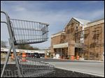 Construction at Kroger Marketplace store in Lambertville, Mich.