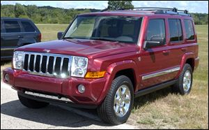 The 2006-2010 Jeep Commander, above, and the 2005-2010 Grand Cherokee have been recalled because they can shift to neutral on start-up without warning.