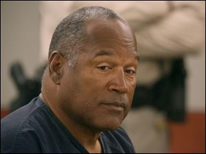O.J. Simpson appears in court at Clark County Regional Justice Center in Las Vegas.