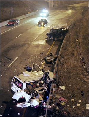 Five members of a Maryland family were killed when their van was struck by a drunken wrong-way driver on  I-280 in Toledo on Dec. 31, 2007.