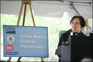 Susan Hedman, Midwest regional administrator of the U.S. Environmental Protection Agency, said the western Lake Erie basin, including the future Middle-grounds Metropark, will get special protection under the Urban Waters Federal Partnership Program.
