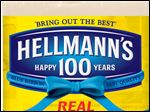 This undated image provided by Hellman's shows Hellmann's mayonnaise's special anniversary packaging.
