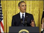 President Barack Obama makes a statement on the Internal Revenue Service's targeting of conservative groups for extra tax scrutiny today in the East Room of the White House in Washington.