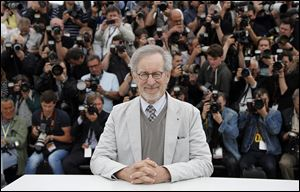 Jury president Steven Spielberg poses for photographers during a photo call for the jury.