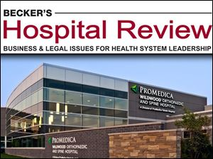 Chicago-based Becker's Hospital Review and Becker's ASC Review named Pro Medica one of the top 100 places to work in health Care