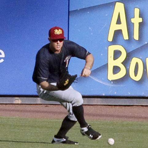Scranton-W-B-RailRiders-Brennan-Boesch-fields-the-ball