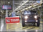The 1 millionth Jeep Wrangler JK to be built at the Toledo Assembly Complex rolls off the line on Friday. Wrangler production started at the plant in 2006.