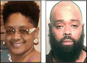 Robert F. Carter of Toledo, right, is accused of murdering his estranged wife, Wendabi Triplett, in December.