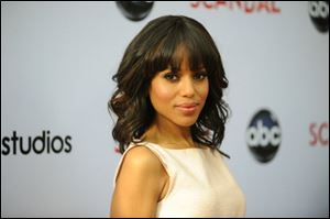 Kerry Washington arrives at the Academy of Television Art and Sciences' event for 'Scandal.'