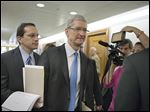 Apple CEO Tim Cook testified before a Senate subcommittee that was examining methods employed by multinational corporations to shift profits offshore.
