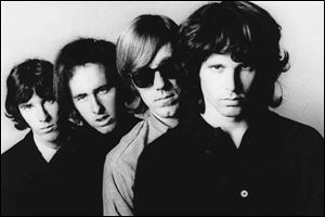 From left; John Densmore, Robbie Krieger, Ray Manzarek and Jim Morrison.