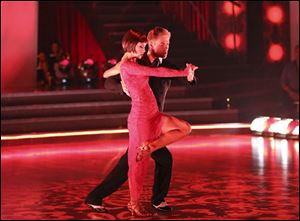 Pickler and professional partner Derek Hough, seen here, bested Disney singer/actress Zendaya and Val Chmerkovskiy to take home the mirrorball trophy Tuesday in Season 16 of the ABC celebrity dance competition.